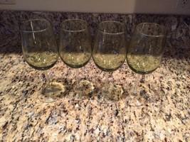 BEAUTIFUL Green 20oz Wine goblets set of 4 - $14.69