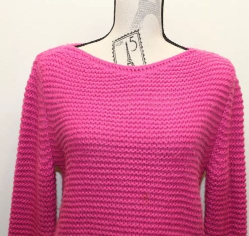 Primary image for Fuchsia Zara Cable Knit Sweater Women Made In Turkey Medium Fall