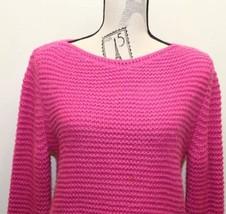 Fuchsia Zara Cable Knit Sweater Women Made In Turkey Medium Fall - $37.39 CAD