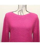 Fuchsia Zara Cable Knit Sweater Women Made In Turkey Medium Fall - $28.04