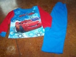 Size 24 Months Disney Cars Flannel Pajamas Set Pants Top Shirt McQueen W... - $12.00