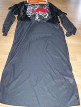 Size Large 10-12 Horrible Grim Reaper Halloween Costume Robe Skeleton Ch... - $24.00