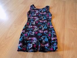 Size Medium 8 Jacques Moret Black Butterfly Dance Peace Love Unitard Leo... - $18.00