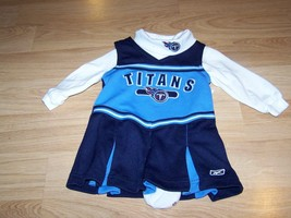 Size 12 Months Reebok Team NFL Tennessee Titans Cheer Dress Top Set Chee... - $24.00