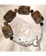 .925 Sterling Silver Pietersite Bracelet - $35.00