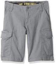 LEE Boys 7X Regular Quartz Gray Extreme Comfort Slim Fit Rover Cargo Shorts New  - $12.86