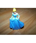 "Disney Princess Cinderella PVC Figure Toy Cake Topper 3"" Tall Blue Dress  - $8.00"