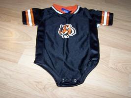 Infant Size 24 Months Cincinnati Bengals One Piece Jersey Black Orange R... - $18.00