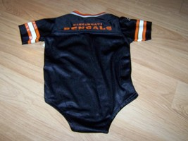 Infant Size 24 Months Cincinnati Bengals One Piece Jersey Black Orange Reebok  image 3