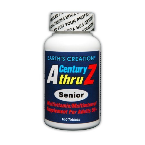 Earth's Creation Century A thru Z Senior (50+) Multi Vitamin - 100 tablets