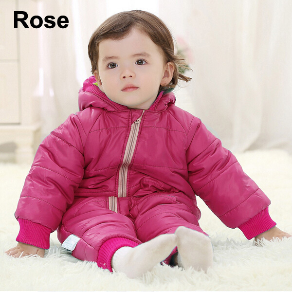 Baby Kid Toddler Boys Girls Winter Padded Onesie Romper Jumpsuit Outfit Snowsuit image 7