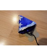 Size Small / Medium Blue Silver Sorcerer Wizard Costume Hat for Pet Dog ... - $8.00