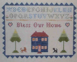 CLEARANCE Bless Our Home Sampler cross stitch chart One More Stitch