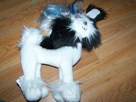 Spin Master Tini Puppini Black & White Terrier Puppy Dog Plush Animal Posable - $18.00