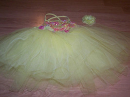 Size IC Weissman Intermediate Child Yellow Pink Full Tutu Skirted Dance ... - $35.00