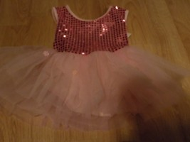 "Child Size Medium 19"" Dance Star Pink Tulle Tutu Skirt Leotard NWOT  - $18.00"
