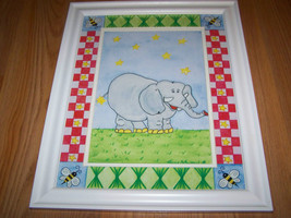 Zoo Safari Elephant Matted Framed Print by Tani... - $32.00