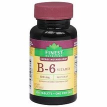 Vitamin B-6 100mg by Finest Nutrition [Health and Beauty] - $18.50