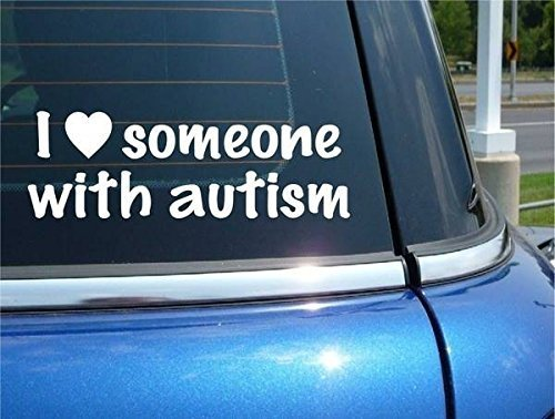 "Hand Made ""I Love Someone with Autism"" Auto Window Sticker [Office Product]"
