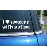 "Hand Made ""I Love Someone with Autism"" Auto Window Sticker [Office Product] - $29.39"