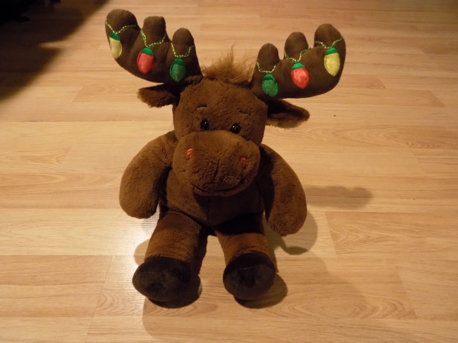 Primary image for Build A Bear Workshop BABW Christmas Holiday Moose Hal Light Up Antlers EUC
