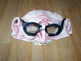 Adult One Size Half Head Topper Latex Mask Hillbilly Man w Glasses & Bra... - $24.00