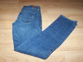 Size 0 Regular American Eagle 77 Straight Denim Blue Jeans Medium Dark W... - $24.00