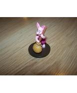 Disney Winnie the Pooh Bear Piglet Pig PVC Figure Toy Cake Topper Round ... - $8.50