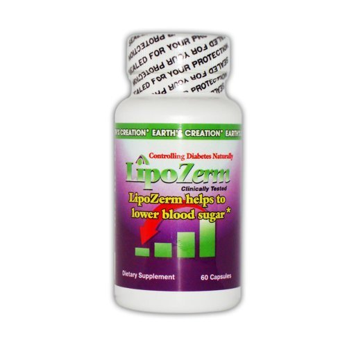 Earth's Creation LipoZerm - Helps to Lower blood sugar* - Nopal Extract - 60 ...