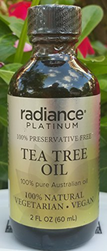 Vegan Tea Tree Oil by Radiance Platinum (2oz, Preservative Free)