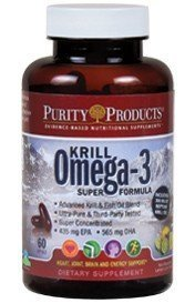 Purity Products -Krill Omega-3 Super Formula - 30 Day Supply - Supports Brain...