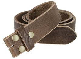 Mens Full Grain Genuine Cowhide Leather Belt Strap Hand-Crafted In USA (Brown... - $39.11