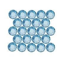 SWAROVSKI ELEMENTS Flatback Crystal Rhinestones #2028 SS16 Aquamarine (50) - $6.10