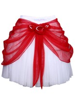 100% Poly Satin Knee Length Skirt - $42.71