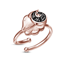 Fashion 925 Silver Sim.Diamond Aries Zodiac Sign Open Adjustable Rings New Gifts - £8.02 GBP