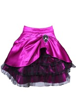100% Poly Satin Magenta Knee Length Skirt - $46.61
