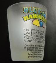 Panama City Beach Shot Glass Blue Hawaiian Recipe and Illustration Frost... - €6,20 EUR