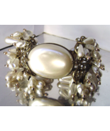 Vintage Pearls Glass Hearts Rhinestone Filigree... - $65.00