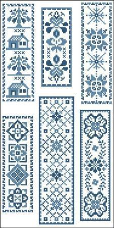 Victorian blue bookmarks 2 3094