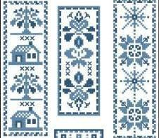Victorian Blue Bookmarks II Collection cross stitch chart PinoyStitch