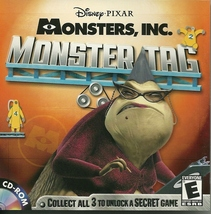 Monster Inc. Monster Tag Disney Pixar CD ROM PC Video Game - $3.99