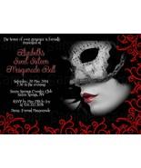 150 Black Masquerade Birthday, Sweet Sixteen Custom Invitation: Personalized - $135.00