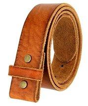 "BS001 Vintage Genuine Leather Belt Strap Without Slot Hole 1.5"" Tan 42 - $33.60"