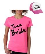 Bride Team Set Of 2 Hats & Women's Tee Shirts Bachelorette party Wedding  - $19.99