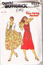 1980's DRESS & VEST Pattern 6523-b Size 10  -  UNCUT - $11.99