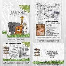 Jungle, Safari Passport, Boarding Pass Invitation Set, Birthday/Baby Shower - $1.75