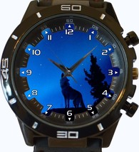 Howl Of The Alpha Wolf Trendy Sports Style Unisex Gift Watch - $34.99