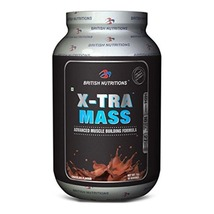British Nutritions X-Tra Mass, Chocolate 2.2 lb - $59.95