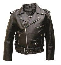 Men's AL2011 Basic Motorcycle Jacket 46 Black - $125.72