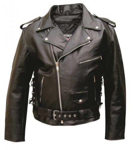 Men's AL2011 Basic Motorcycle Jacket 48 Black - $135.54